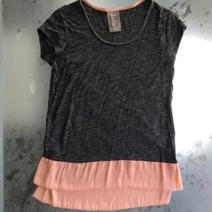 Anthropologie Grey Pink shirt in S